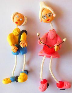 Vovô e vovó em biscuit feitos por Lulu