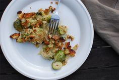 Brussels Sprout and Caramelized Shallot Gratin
