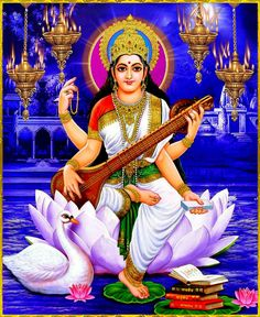 Saraswati... Hindu goddess of knowledge, art, music, learning and wisdom... ॐ