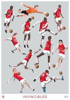 Arsenal Invincibles by Dan Leydon Arsenal Fc, Arsenal Players, Arsenal Football, Soccer Art, Football Soccer, Football Players, College Basketball, Arsenal Wallpapers, Sports Graphic Design