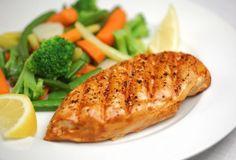 Healthy food fish  on We Heart It