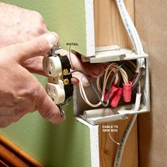 Installing an Electrical Outlet Anywhere Adding receptacles isn't overly complicated, but there are facts you should know in order to stay safe and code compliant. Installing Electrical Outlet, Home Electrical Wiring, Electrical Projects, Electrical Outlets, Electrical Safety, House Wiring, Home Fix, Diy Home Repair, Home Repairs
