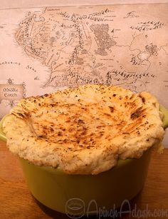 Fiction Food: The Hobbit / Lord of the Rings: Farmer Maggot's Crop Pot Pies. An homage to Hobbit food.