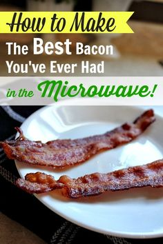 Making beef bacon is no longer a big messy chore or just for weekends! ( I buy beef bacon at Fred Meyer's. Trader Joe's no longer carries beef bacon. Microwave Bacon, Microwave Recipes, Microwave Dishes, How To Make Bacon, Making Bacon, Healthy Chocolate Mug Cake, Chocolate Art, Raclette Fondue, Pork Recipes