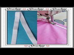 Como coser el elastico a las prendas interiores - YouTube