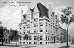 """""""The Macfadden Healthatorium."""" Bernarr Macfadden (1868 - 1955), internationally famous during his lifetime but almost unknown today, called the """"Father of Physical Culture,"""" nicknamed """"Body Love"""" Macfadden by Time magazine, was a flamboyant personality, true visionary, millionaire publisher, and life-long advocate of physical fitness, natural food, outdoor exercise, and the natural treatment of disease."""