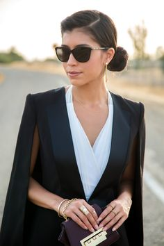 black womens tuxedo blazer - Visit Stylishlyme.com to read some style tips on how to wear a jumpsuit