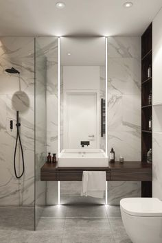 Modern Bathrooms Interior, Master Bedroom Interior, Bathroom Design Luxury, Modern Bathroom Design, Washroom Design, Minimalist Bathroom Design, Interior Design Gallery, Home Interior Design, Home Room Design