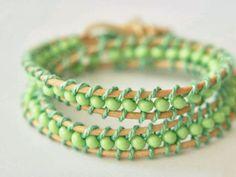 Tutorial DIY: Zrób podwójną bransoletkę z koralików przez DaWanda.com