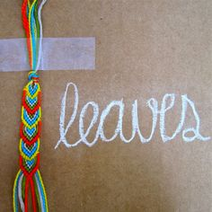 DIY: leafy friendship bracelet