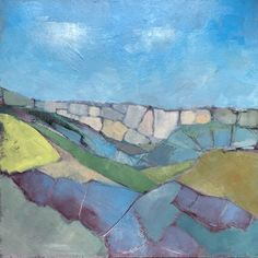 Malham Cove VIII: Colin Pollock Contemporary Landscape, Landscapes, Oil, Abstract, Board, Painting, Paisajes, Summary, Scenery