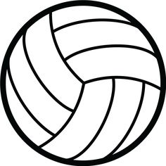 free printable volleyball clip art shape collage shapes rh pinterest com volleyball clipart free download volleyball clipart free images