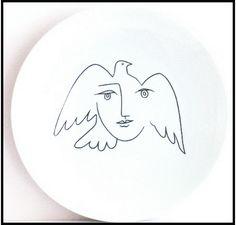 Assiette Visage de la Paix, de Picasso - La Boutique de la Paix
