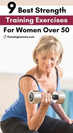 9 Best Strength Training Exercises for Women Over 50   if you want to slow down the aging process, you need to start building more muscles instead of losing them. Lift weights and do bodyweight exercises at home so you can stay healthy and strong in your daily lives! #exercise #workout #workoutathome #exerciseover50 Fitness Workout For Women, Sport Fitness, Weights Workout For Women, Weight Loss Program, Weight Lifting, Women Weight Training, Pilates, Over 50 Fitness, Strength Training Workouts