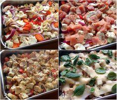lindastuhaug - lidenskap for sunn mat og trening Pasta Salad, Cobb Salad, A Food, Good Food, Food Porn, Salsa Verde, Pulled Pork, Crockpot, Cooking Recipes