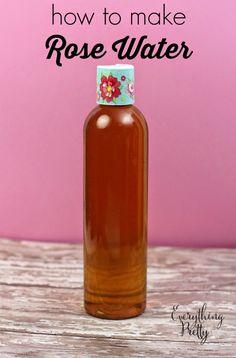 How to make rose water - an easy DIY recipe using fresh rose petals.