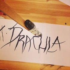 "The art crew is experimenting with hand drawn typography for Mister Ghost's Monthly Parcel: ""Dracula"""