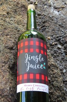 Jingle juice wine bottle labels! funny Christmas party favors or stocking stuffers. lol