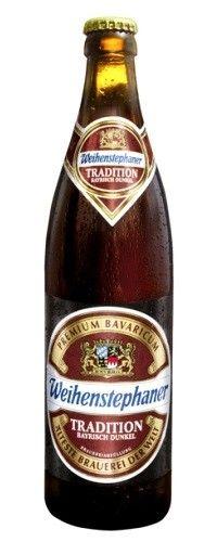 Cerveja Weihenstephaner Tradition Bayrisch Dunkel, estilo Munich Dunkel, produzida por , Alemanha. 5.2% ABV de álcool.