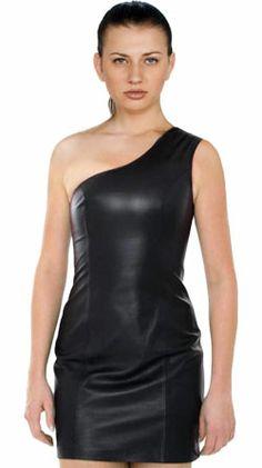 Single Shoulder Back Zipped Dress for Women