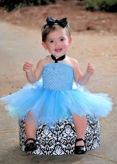 Cinderella Baby Girls Tutu Dress Birthday by HandpickedHandmade, $20.00 #Halloween #Costume #Tutu Unique Halloween Tutu Costume Cinderella Princess. Available in short and long dress style.