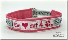 Hund: Halsbänder - Halsband bestickt, Hundehalsband, Hund, ZugStopp - ein Designerstück von Blinni-Fashion bei DaWanda