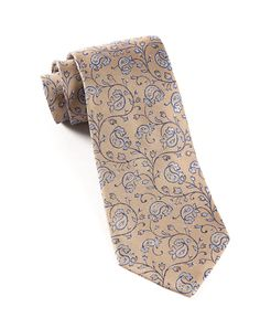 VIRTUAL VINES - LIGHT CHAMPAGNE | Ties, Bow Ties, and Pocket Squares | The Tie Bar