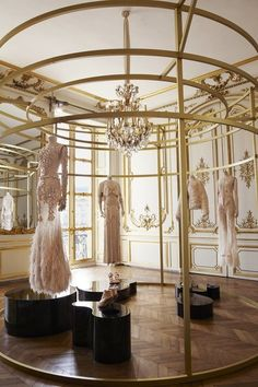 givenchy haute couture f/w 2010 by riccardo tisci {Beautiful} Shop Interior Design, Retail Design, Store Design, Bridal Boutique Interior, Boutique Design, Commercial Design, Commercial Interiors, Fashion Showroom, Store Interiors