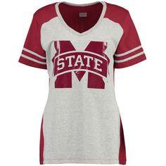 Women's Maroon Mississippi State Bulldogs Presidio V-Neck T-Shirt