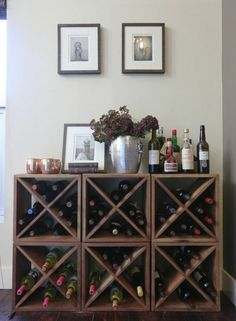 modulares Weinregal aus Holz selber bauen
