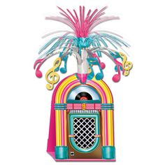 JUKEBOX CLASSIC 50/'S SWIRLS WHIRLS HANGING PARTY DECORATIONS 60/'S ROCK /& ROLL