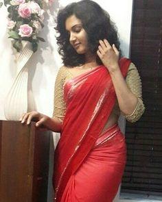 Malayalam Actress Honey Rose in Red Saree Photos Black Saree, Red Saree, Sari, Rose Actress, Beautiful Indian Actress, Beautiful Women, Honey Rose, Malayalam Actress, Contemporary Fashion
