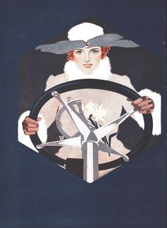 Coles Phillips - Willys Overland Automobile ad (March 25, 1916) Illustration from first page of double-page ad