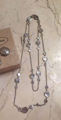 "LOIS HILL STERLING SILVER 36"" NECKLACE With Charms #LOISHILL #Charm"