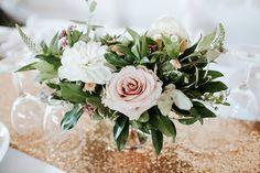 Sweet Blush, White & Peach Wedding Centerpieces