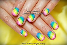 Gelish Pastel Pistachio with Flowers manicure | FUNKY FINGERS FACTORY