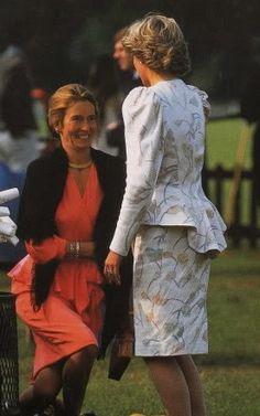 Princess Diana with Sarah Ferguson's mother, both now deceased