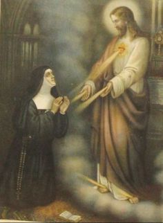 Novena to Saint Margaret Mary of Alacoque: October 8 - . Saint Margaret Mary, thou who wert made a partaker of t. Mary I, Mary And Jesus, The Transfiguration, Images Of Mary, St Margaret, Christ The King, The Good Shepherd, Catholic Quotes, Pope John