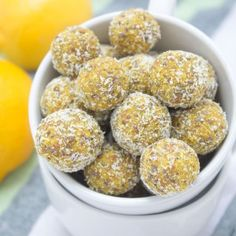 Lemon Turmeric Energy Balls rich in beautiful citrus aroma enriched with turmeric, and chia seeds. These immune boosting, refined sugar-free energy balls are rich in fibers and plant-based proteins. Perfect for everyday snacking. CLIK to read the recipe or PIN for later!