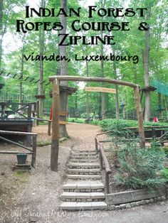 Indian Forest - Vianden, Luxembourg - World Traveling Military Family Outdoor Play Structures, European Holidays, Ropes Course, Living In Europe, Amsterdam Travel, Adventure Activities, European Travel, Germany Travel, Day Trips