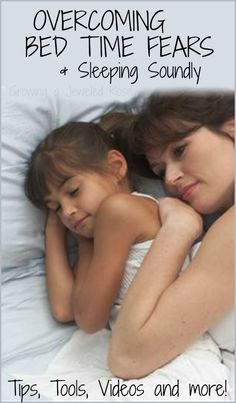 Tips, tricks, and tools to help kids overcome bedtime fears and sleep soundly- topics include fear of the dark, monsters, and other bedtime anxieties.