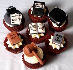 Jurisprudence cupcakes by Sweet Creams