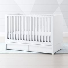 Shop White Hidden Storage Crib.  Keep your nursery organized and clutter-free with our White Hidden Storage Crib.  The super handy storage drawers are roomy enough to hold plenty of baby essentials, while keeping them out of sight.