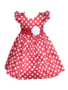 polkadot childrens special occasion dress