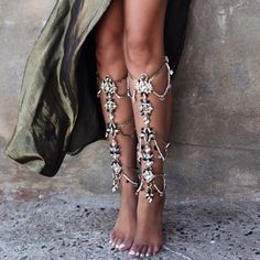 Gladiator leg jewels