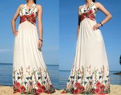 Maxikleider - Elegant Floral Maxi Romantik Langes Kleid Sommerkl - ein Designerstück von MyParadise bei DaWanda http://de.dawanda.com/product/31428670-Elegant-Floral-Maxi-Romantik-Langes-Kleid-Sommerkl?partnerid=tracdelight&utm_campaign=de_c5&utm_medium=de&utm_source=tracdelight