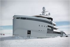 Most yacht are built for sailing the tropics. While the Seaxplorer Expedition Yacht can certainly do so, it's also equipped to take you to the most remote waters on earth. Its patented hull design with heavy ice reinforcement makes it. Yacht Design, Super Yachts, Bateau Yacht, Explorer Yacht, Expedition Yachts, Monaco Yacht Show, Yacht Boat, Motor Yacht, Jet Ski