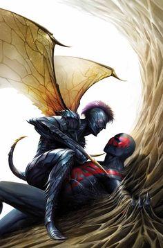 #Spiderman #2099 #Fan #Art. (SPIDER-MAN 2099 #12 Cover) By: Francesco Mattina. (THE * 5 * STÅR * ÅWARD * OF: * AW YEAH, IT'S MAJOR ÅWESOMENESS!!!™)[THANK Ü 4 PINNING!!!<·><]<©>ÅÅÅ+(OB4E) https://s-media-cache-ak0.pinimg.com/474x/d3/1a/4b/d31a4b4a50e4ee34ba5df326e279ec02.jpg