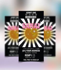 Disco Party Invitation by concept-designs.com.au. Visit our website to check out more 'party printables' available.