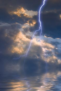 Lightning on water